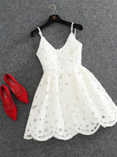 2017 Homecoming Dress Chic Ivory Spaghetti Straps Short Prom Dress Party Dress JK178