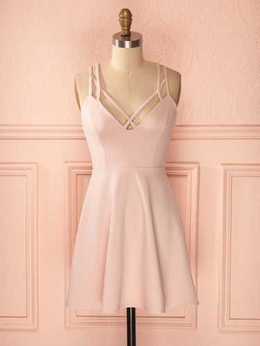 2017 Homecoming Dress Sexy Pink Cheap Short Prom Dress Party Dress JK182