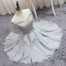 2017 Homecoming Dress Off-the-shoulder Silver Short Prom Dress Party Dress JK187