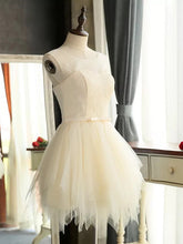 2017 Homecoming Dress Chic Lace-up Scoop Tulle Short Prom Dress Party Dress JK193