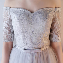 2017 Homecoming Dress Silver Short Sleeve Lace Short Prom Dress Party Dress JK194