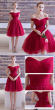 2017 Homecoming Dress Off-the-shoulder Burgundy Short Prom Dress Party Dress JK197