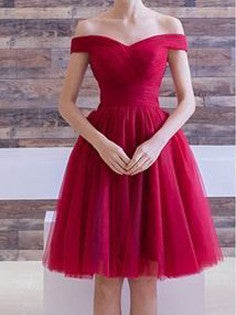 e1e972fbe919 2017 Homecoming Dress Off-the-shoulder Burgundy Short Prom Dress Party Dress  JK197
