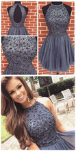 2017 Homecoming Dress Beading Halter Sexy Short Prom Dress Party Dress JK201
