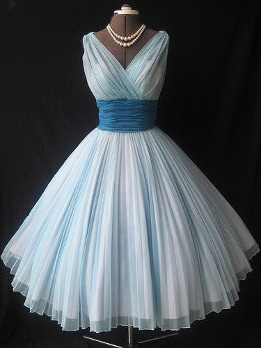 2017 Homecoming Dress Chiffon Vintage Blue Pink Short Prom Dress Party Dress JK231