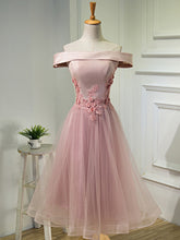 2017 Homecoming Dress Off-the-shoulder Tea-length Short Prom Dress Party Dress JK244