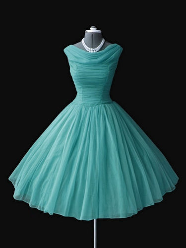 2017 Homecoming Dress Vintage Knee-length Ruffles Short Prom Dress Party Dress JK251