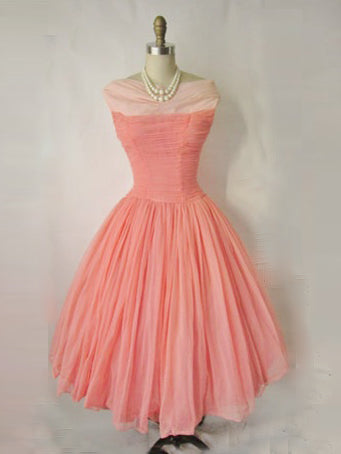 2017 Homecoming Dress Chic Watermelon Vintage Short Prom Dress Party Dress JK264