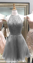 2017 Homecoming Dress Sexy Halter Beading Short Prom Dress Party Dress JK268