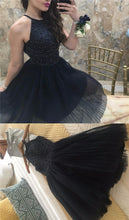 2017 Homecoming Dress Sexy Tulle Halter Beading Short Prom Dress Party Dress JK269