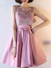 2017 Homecoming Dress Sexy Lace Satin Bowknot Short Prom Dress Party Dress JK271