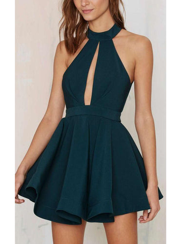 Cheap Homecoming Dress Sexy Halter Chiffon Short Prom Dress Party Dress JK274