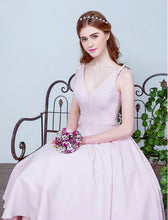 Homecoming Dress Bowknot Lace-up Tea-length Short Prom Dress Party Dress JK280