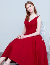 Red Homecoming Dress Tea-length Sexy Bowknot Short Prom Dress Party Dress JK281