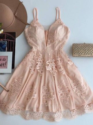 Cute Homecoming Dress Sexy Spaghetti Straps Short Prom Dress Party Dress JK293