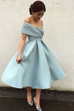 Beautiful Homecoming Dress Off-the-shoulder Satin Short Prom Dress Party Dress JK294