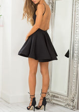 Sexy Backless Homecoming Dress Little Black Dress Short Prom Dress Party Dress JK312