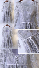 Beautiful Homecoming Dress Silver Lace Tulle Short Prom Dress Party Dress JK314