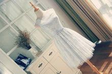 Cute Homecoming Dress Scoop Lace-up Tulle Lace Short Prom Dress Party Dress JK324