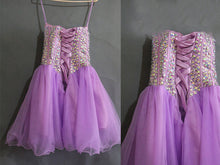 Chic Homecoming Dress Sweetheart Rhinestone Lilac Short Prom Dress Party Dress JK330