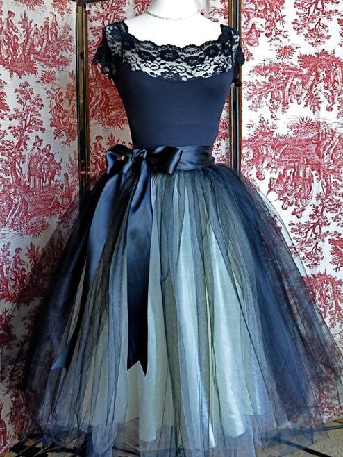Sexy Homecoming Dress Dark Navy Tulle Lace Short Prom Dress Party Dress JK331