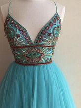 Beautiful Homecoming Dress A-line Spaghetti Straps Sexy Short Prom Dress Party Dress JK381