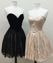 Little Black Dress Homecoming Dress Lace Sweetheart Short Prom Dress Party Dress JK392