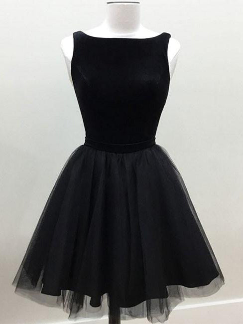 Little Black Dresses Homecoming Dress Sexy Bateau Short Prom Dress Party Dress JK396