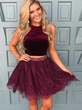 Little Black Dress Two Piece Homecoming Dress Short Prom Dress Party Dress JK404|Annapromdress