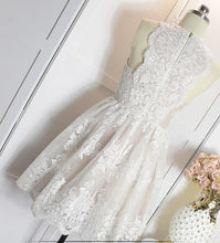 Beautiful Homecoming Dress Scoop Appliques Ivory Short Prom Dress Party Dress JK415
