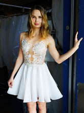 Chic Sexy Homecoming Dress Appliques Chiffon Short Prom Dress Party Dress JK432