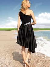 Sexy Homecoming Dress Asymmetrical Little Black Dresses Short Prom Dress Party Dress JK437