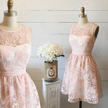 Beautiful Fashion Homecoming Dress Scoop Lace Short Prom Dress Party Dress JK438