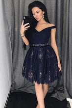Fashion Homecoming Dress Off-the-shoulder Lace Short Prom Dress Party Dress JK451