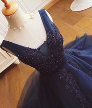 Dark Navy Homecoming Dress Appliques Chic Short Prom Dress Party Dress JK454