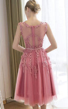 Beautiful Homecoming Dress A-line Appliques Short Chic Prom Dress Party Dress JK495