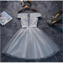 Cheap Homecoming Dress Off-the-shoulder Ruffles Sliver Short Prom Dress Tulle Party Dress JK497