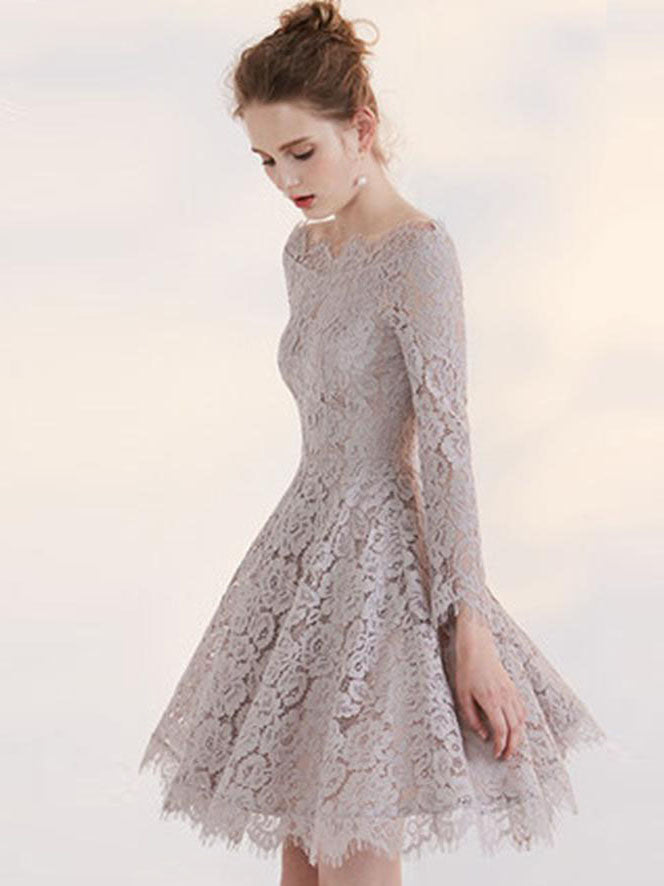 A Line Long Sleeve Party Dresses