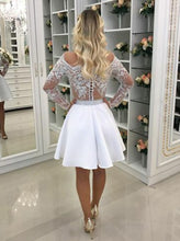 Chic Homecoming Dress Scoop A-line Beading Short Black Prom Dress Party Dress JK564|Annapromdress