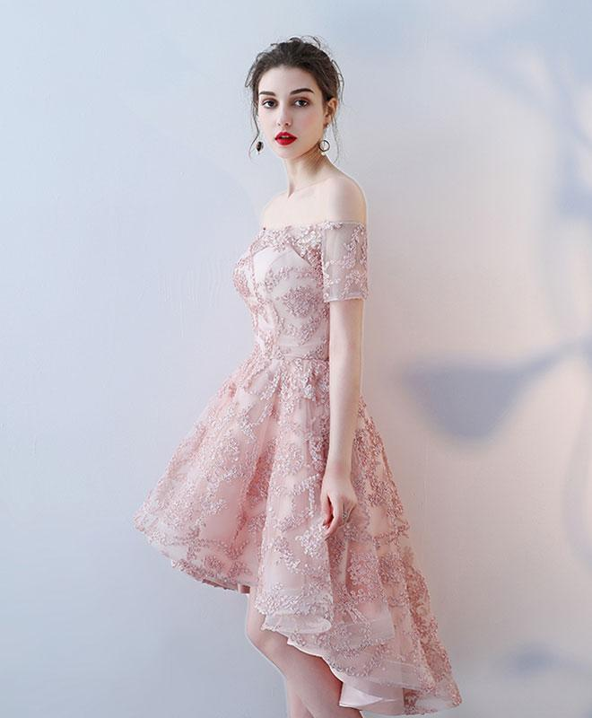 c2421666ac1 ... High Low Homecoming Dresses Off-the-shoulder Short Prom Dress Lace  Party Dress JK583 ...