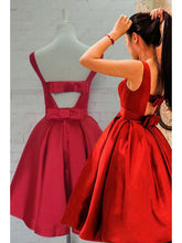 Cheap Homecoming Dresses Bowknot A-line Short Prom Dress Cute Party Dress JK587|Annapromdress