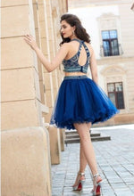 Two Piece Homecoming Dresses Sparkly Aline Short Prom Dress Chic Party Dress JK589|Annapromdress