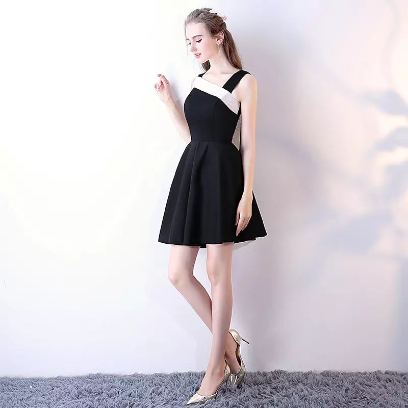 18735e555e2 ... Black Homecoming Dresses Aline Cheap Short Prom Dress Simple Party Dress  JK590|Annapromdress ...
