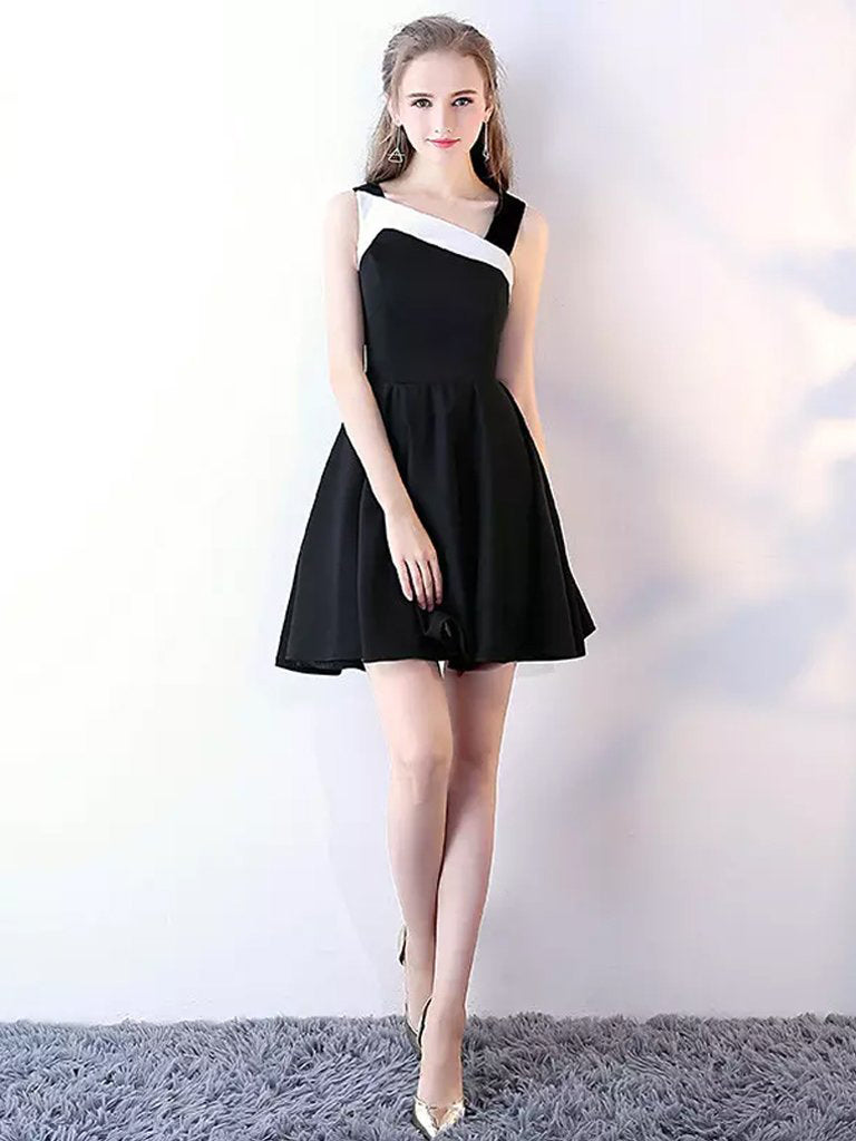 Black Homecoming Dresses Aline Cheap Short Prom Dress Simple Party Dress JK590|Annapromdress