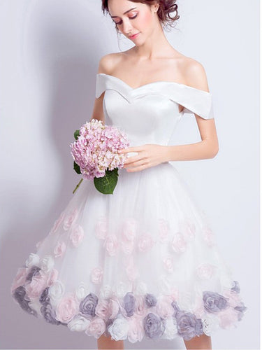 Beautiful Homecoming Dresses A-line Rose Floral Short Prom Dress Party Dress JK596|Annapromdress