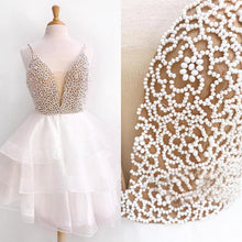 Chic Homecoming Dresses A-line Beading Short Prom Dress Cute Party Dress JK603|Annapromdress