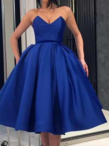 Ball Gown Homecoming Dresses Tea-length Simple Short Prom Dress Party Dress JK627|Annapromdress