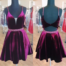 Cheap Homecoming Dresses Aline Velvet Chic Short Prom Dress Party Dress JK652|Annapromdress