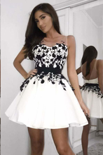 Black and White Homecoming Dresses Chic Short Prom Dress Party Dress JK659|Annapromdress