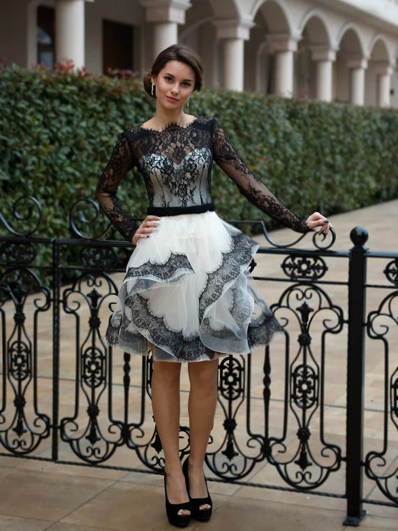 Little Black Dress Lace Homecoming Dresses Short Prom Dress Party Dress JK660|Annapromdress